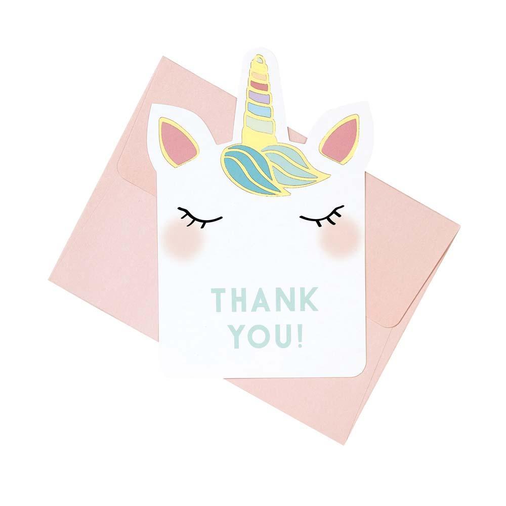 unicorn thank you note cards  papier party  unicorn
